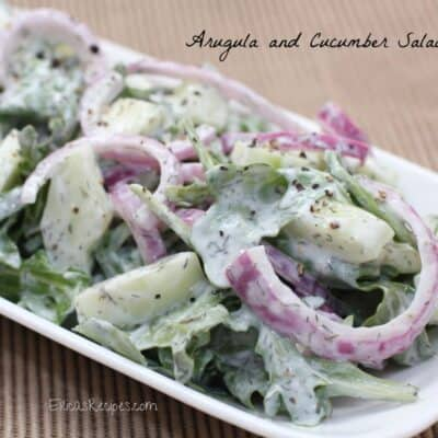 Arugula and Cucumber Salad