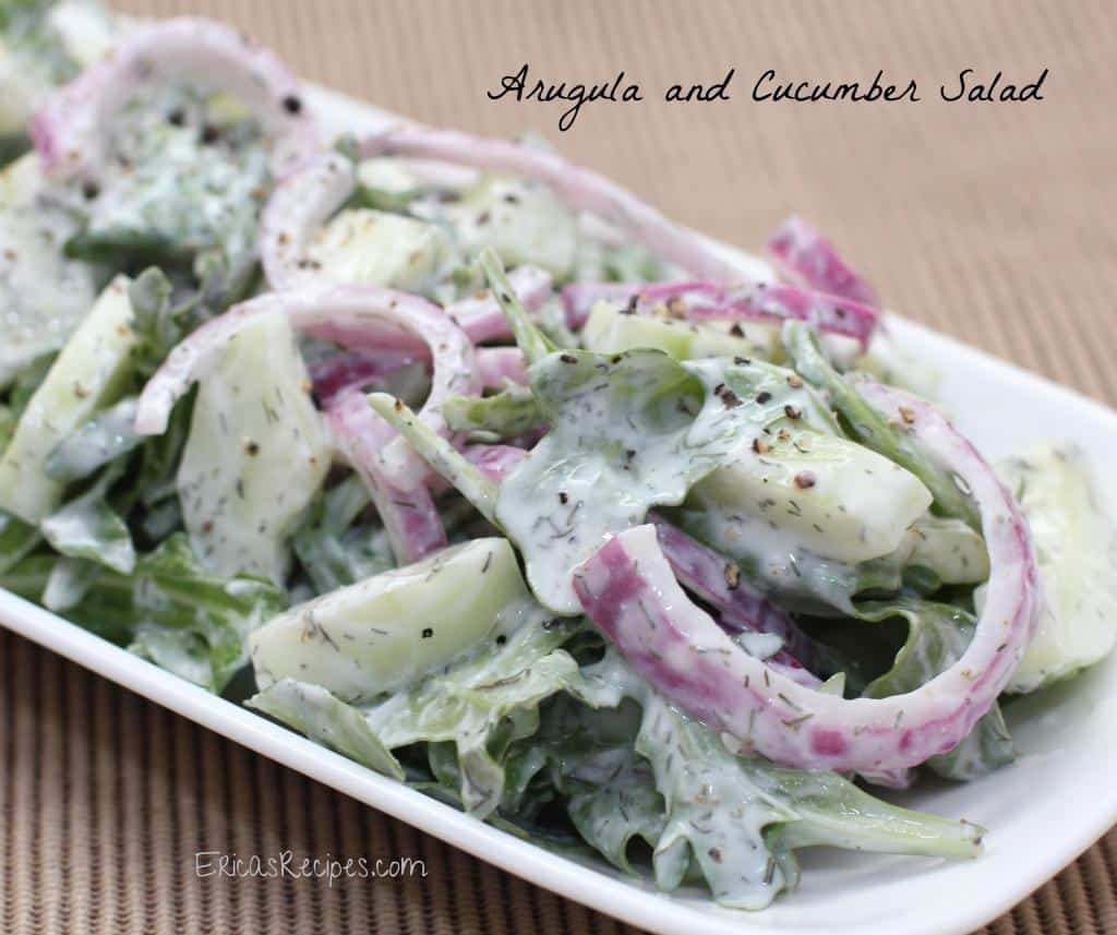 Arugula Cucumber Salad