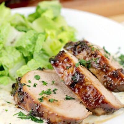 Bourbon Pork Medallions with Mustard Sauce