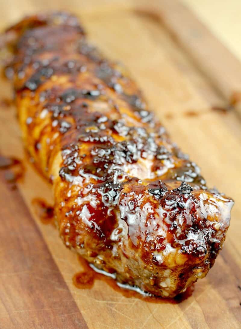 resting bourbon glazed pork tenderloin