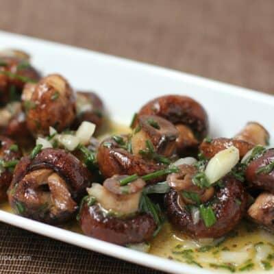 Grilled Mushrooms in Vinaigrette
