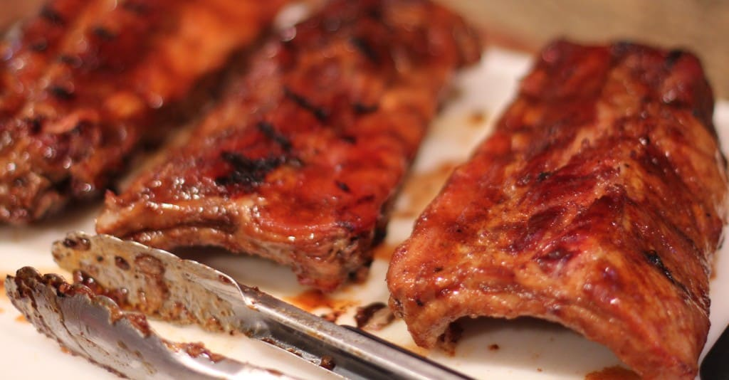 Honey Bourbon and Root Beer Glazed Baby Back Ribs