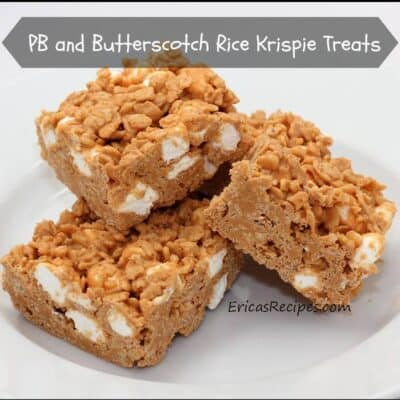 PB and Butterscotch Rice Krispie Treats