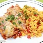 Quick Chicken Enchiladas in Red Sauce