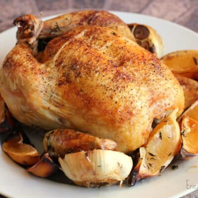 Roast Chicken with Lemon and Garlic