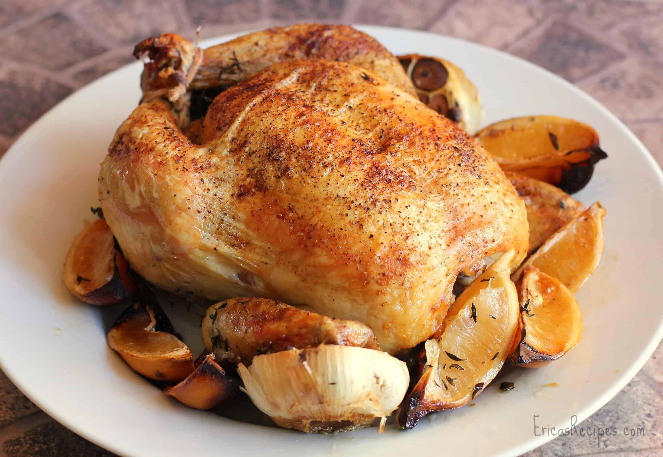 Roast Chicken with Lemon and Garlic