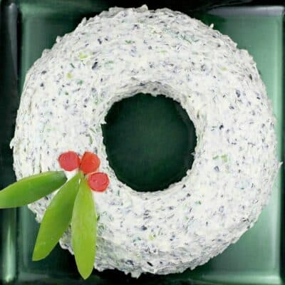 Scallion Olive Party Dip Christmas Wreath