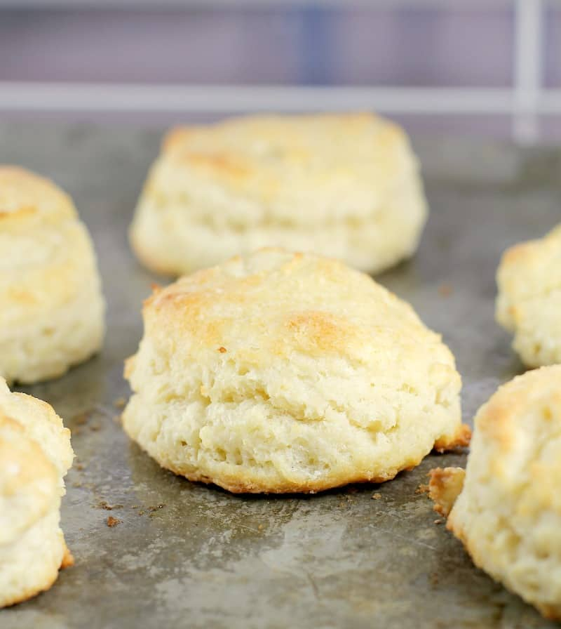 finished biscuits on a bake sheet