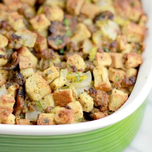 The Best Stuffing Recipe Ever Erica S Recipes Sausage Stuffing