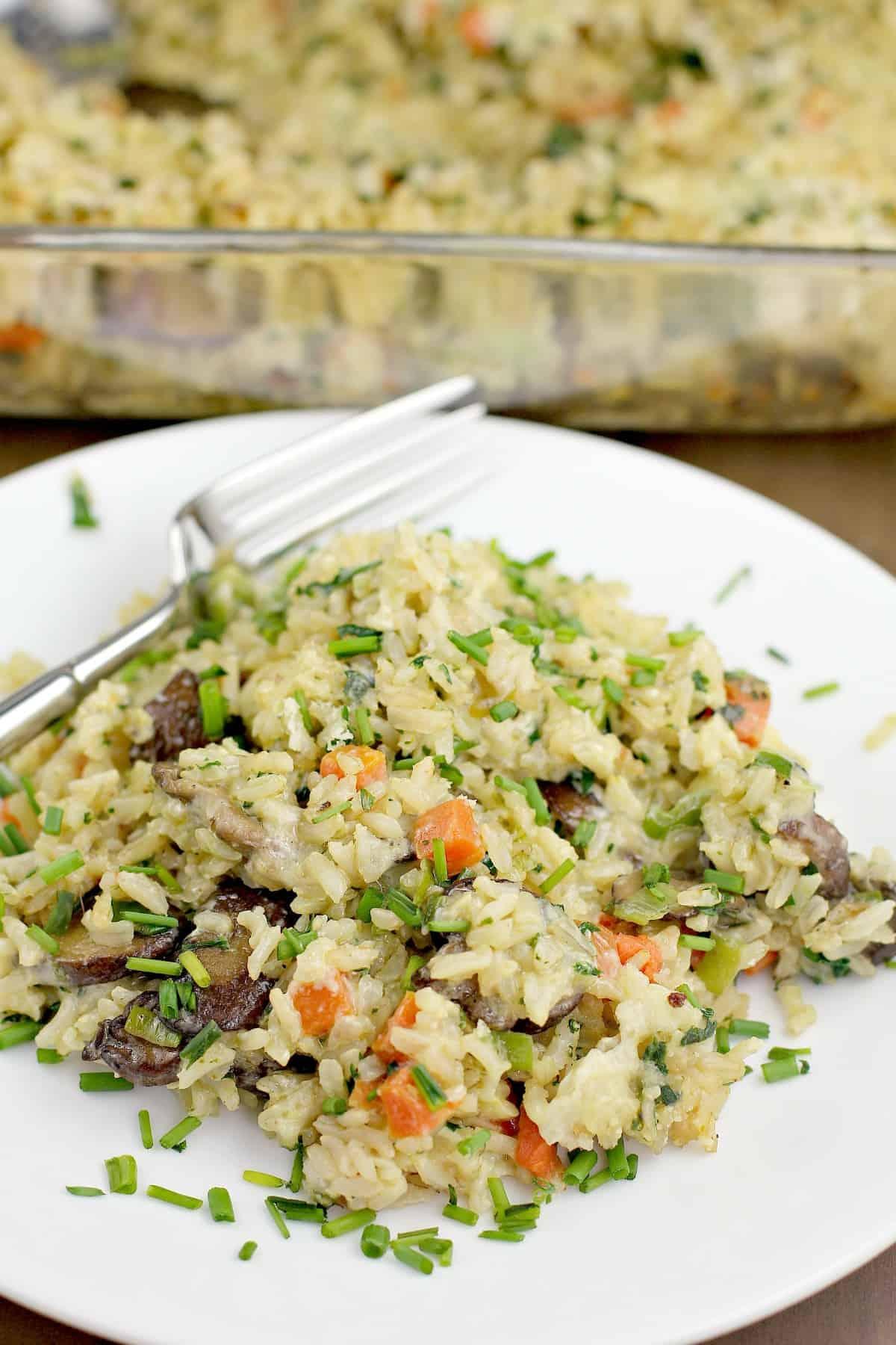 Vegetarian Rice Casserole