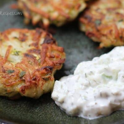 Zucchini and Potato Latkes