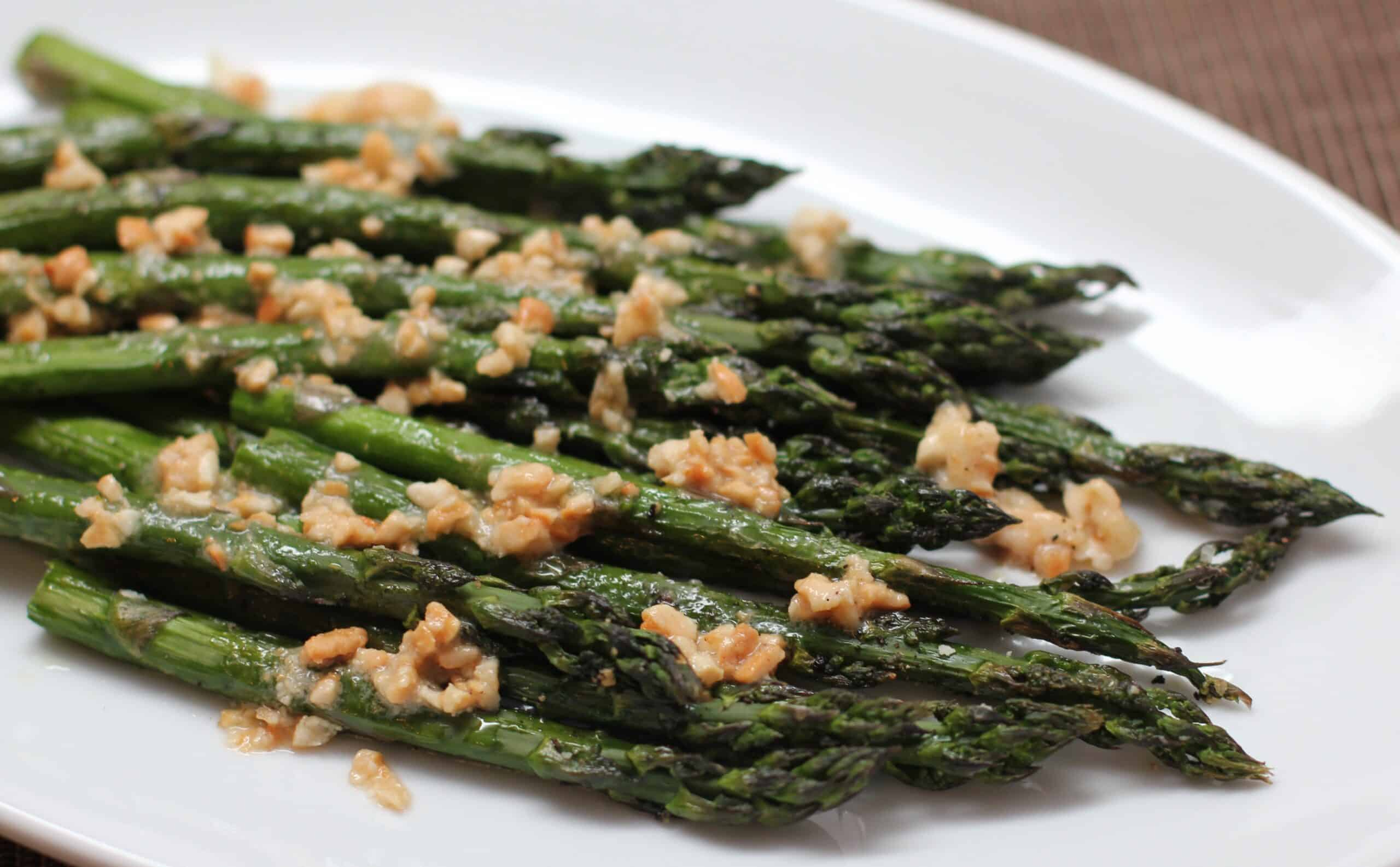 Roast Asparagus with Cashew Butter