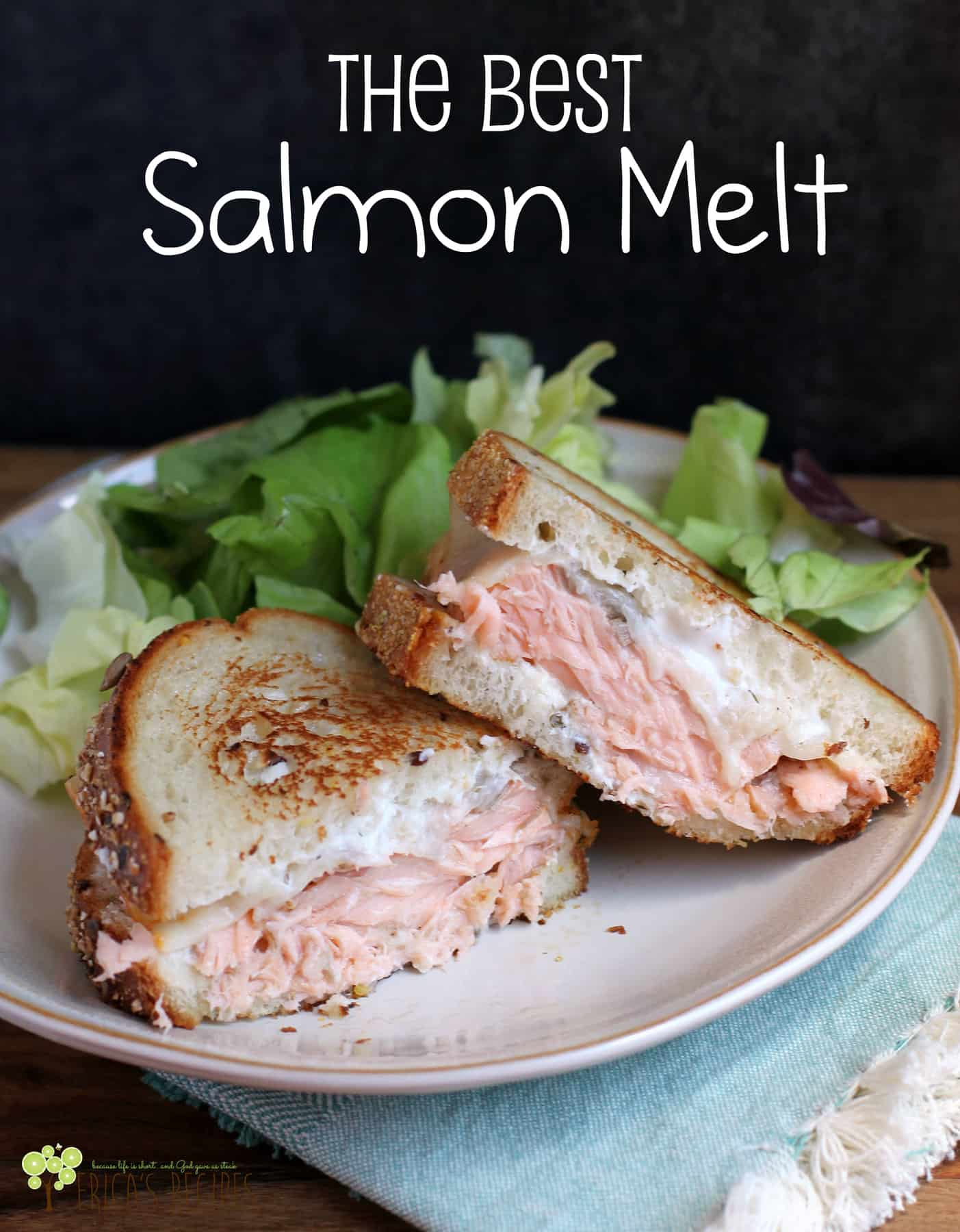 The Best Salmon Melt #recipe #salmon #food #seafood