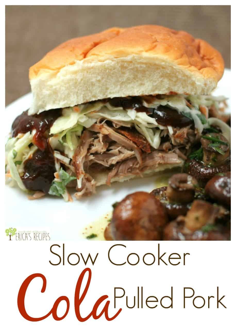 Slow Cooker Cola Pulled Pork from EricasRecipes.com