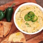 Spicy Smoky Jalapeno Hummus with Grilled Pita
