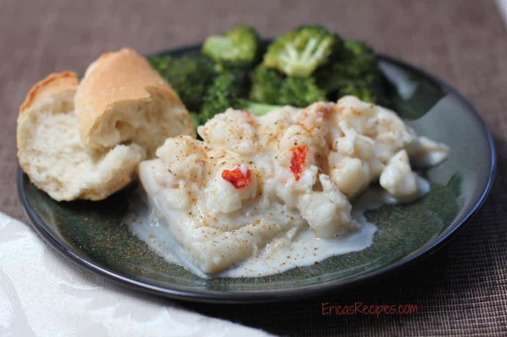 Haddock Baked in Lobster Sauce
