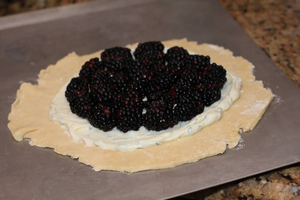 Blackberry Basil Galette from EricasRecipes.com