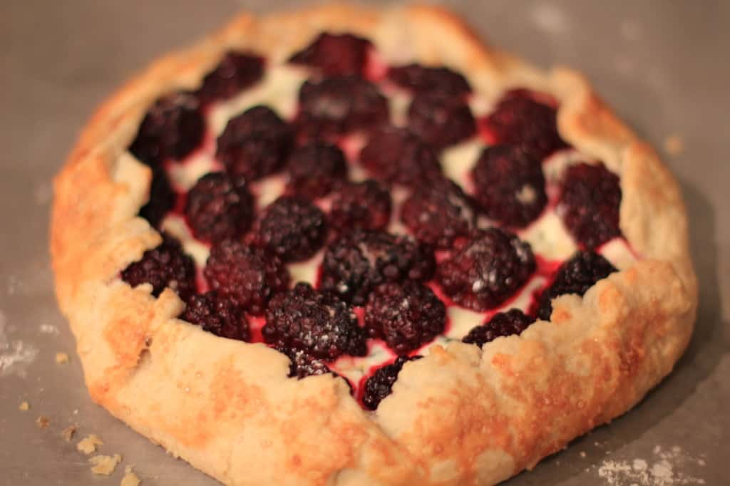 Blackberry Basil Galette