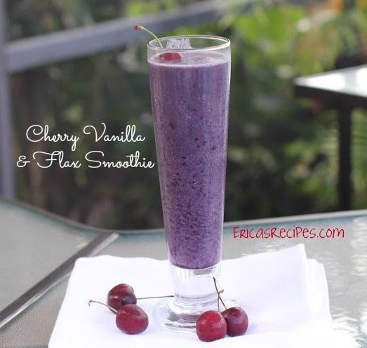 Cherry Vanilla & Flax Smoothie