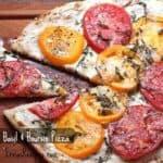 Tomato, Basil & Boursin Pizza
