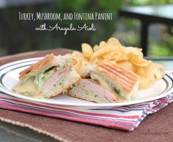 Turkey, Mushroom, and Fontina Panini with Arugula Aioli