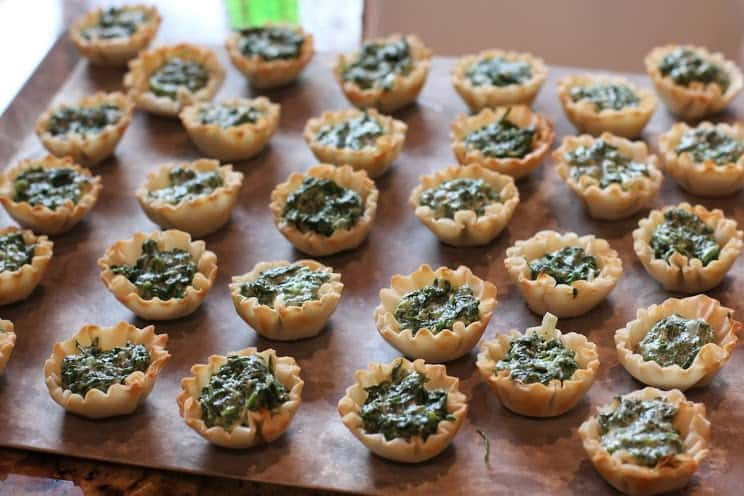 Spinach and Arugula Tartlets from EricasRecipes.com