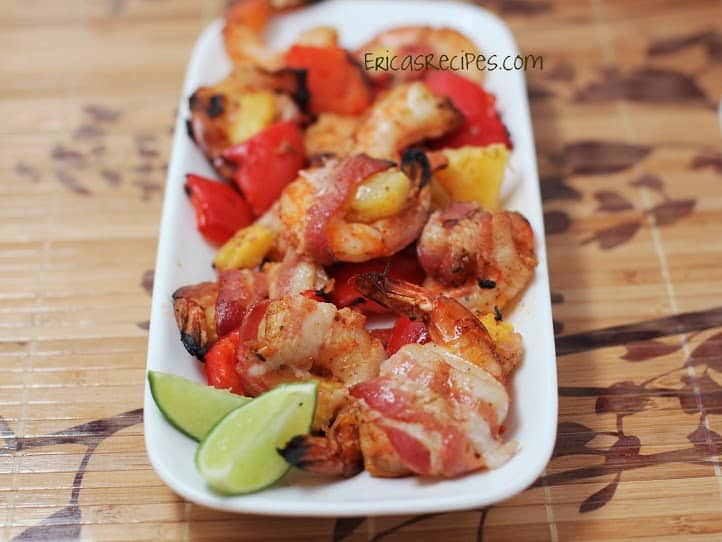 Bacon-Wrapped, Chili-Lime Shrimp with Pineapple