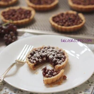 PB & Champagne Grape Tarts