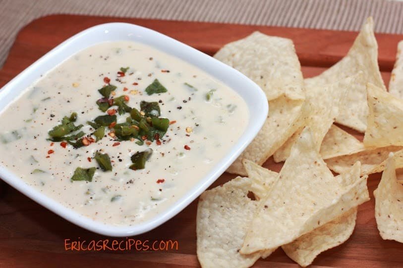 Grilled Poblano Queso Dip