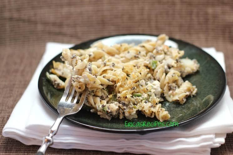Baked Rotini with Chilies and Olives