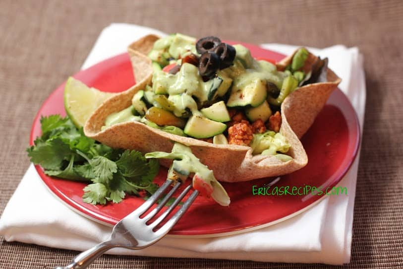 Taco Salad with Grilled Veggies