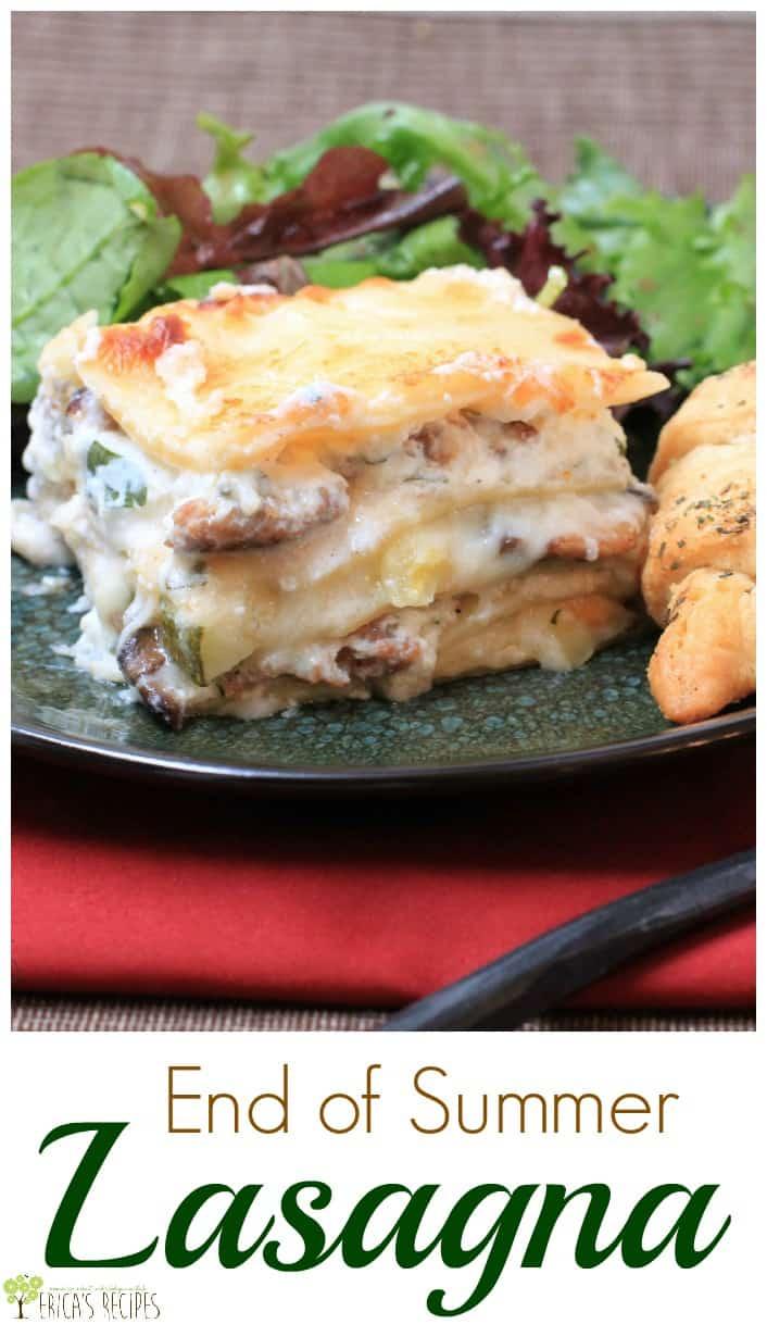 End of Summer Lasagna from EricasRecipes.com