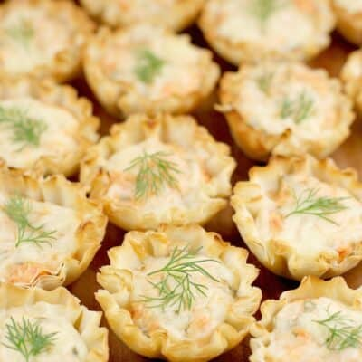 Smoked Salmon Appetizer Mini Tarts