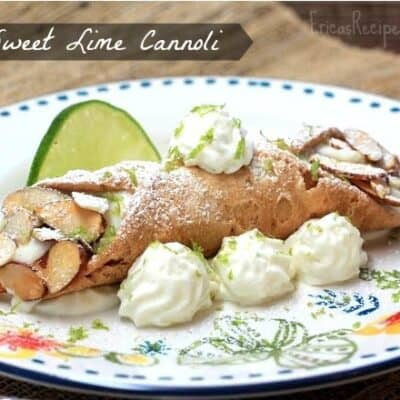 Sweet Lime Cannoli