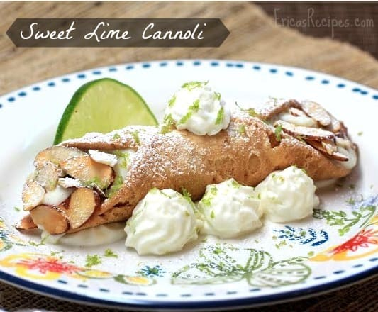 Sweet Lime Cannoli