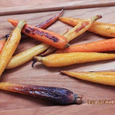 Apple Juice Roasted Carrots