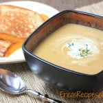 Butternut Squash Soup with Marsala, Bacon, and Thyme