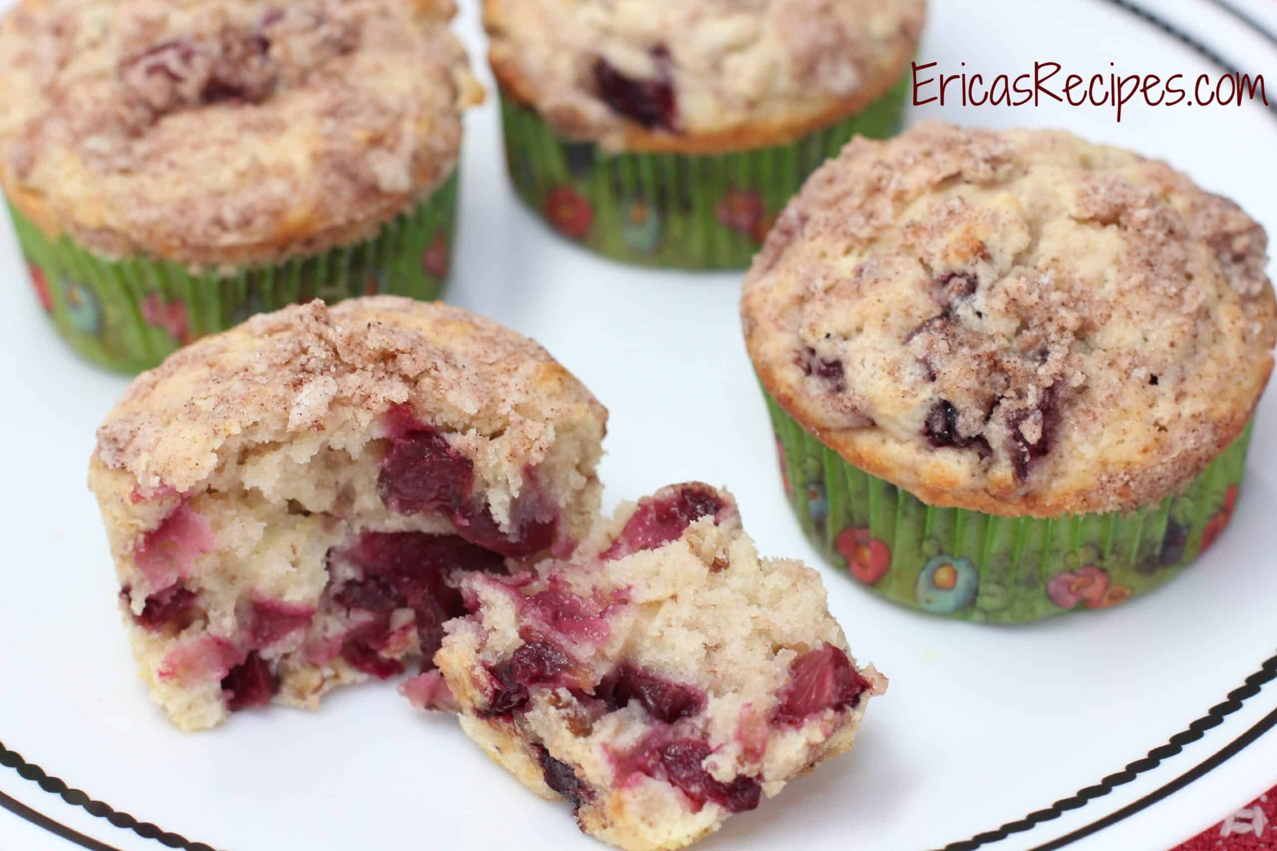 Streusel-Topped Cherry Pecan Muffins