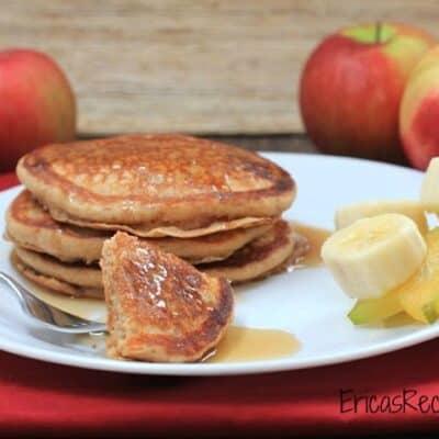Cinnamon Applesauce Pancakes