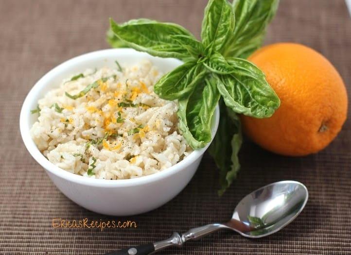 Orange Basil Brown Rice Pilaf