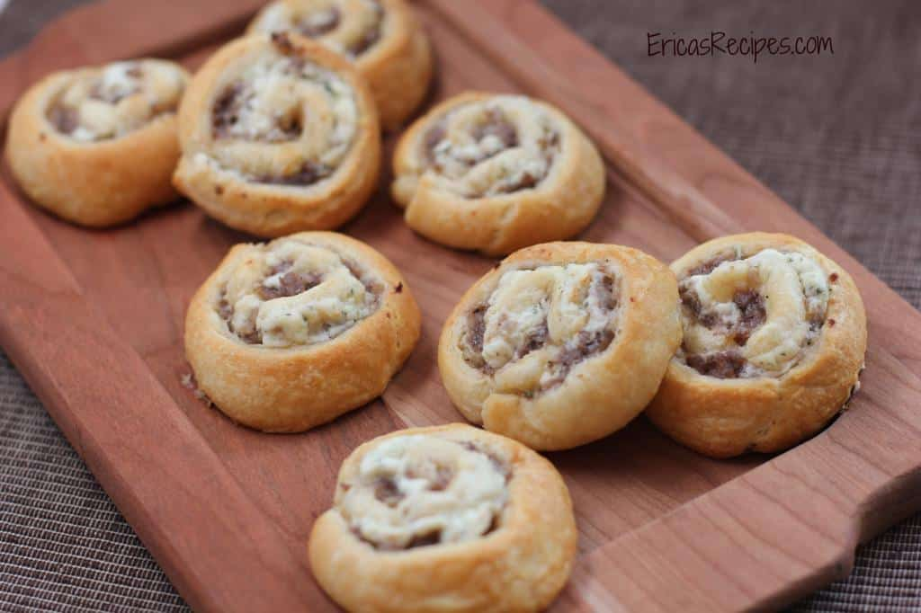 Sausage and Boursin Pinwheels