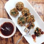 Spinach and Cheese Pretzel Balls with Sweet Currant Dijon Dipping Sauce