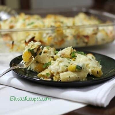 Baked Rigatoni with Grilled Summer Veggies