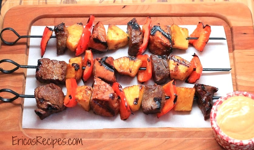 Surf and Turf Teriyaki Kabobs