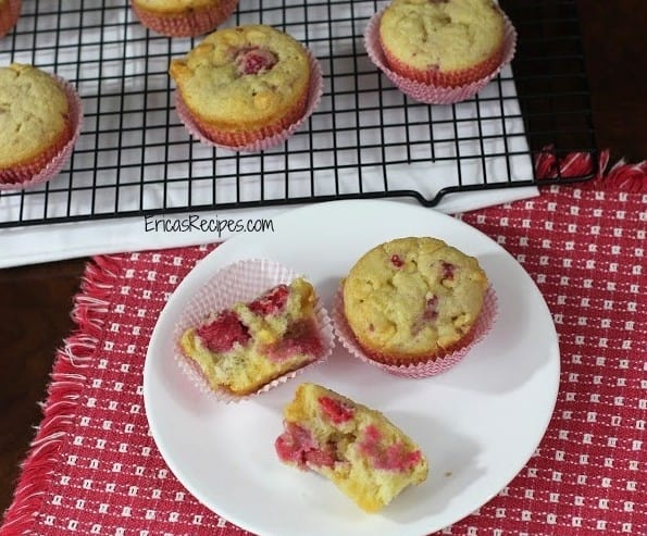 White Chocolate and Raspberry Buttermilk Muffins