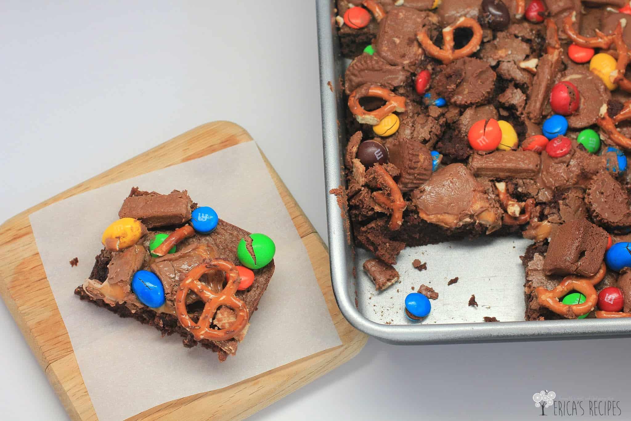 raid your kids halloween candy brownies - Halloween Brownie Recipe