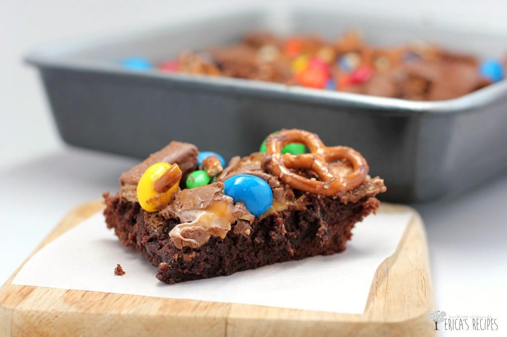 Raid-Your-Kids' Halloween Candy Brownies