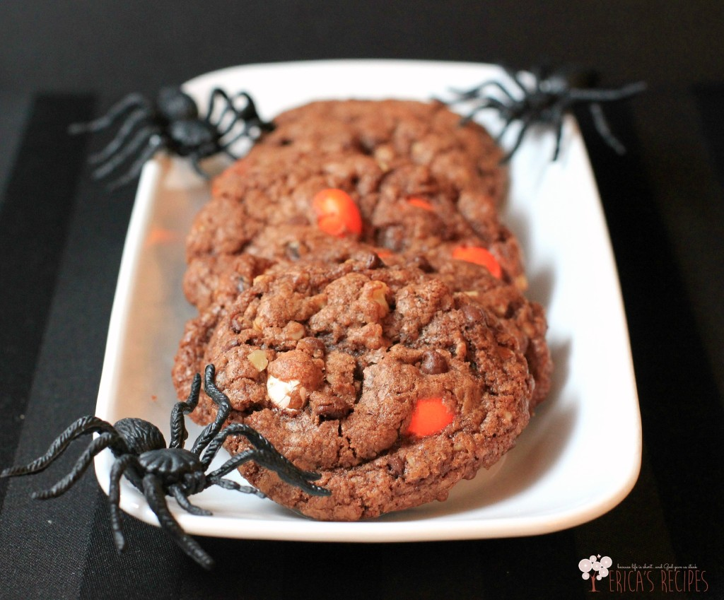Halloween Nutella Candy Corn MM Cookies from EricasRecipes.com 1W