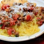 Weeknight Bolognese over Spaghetti Squash