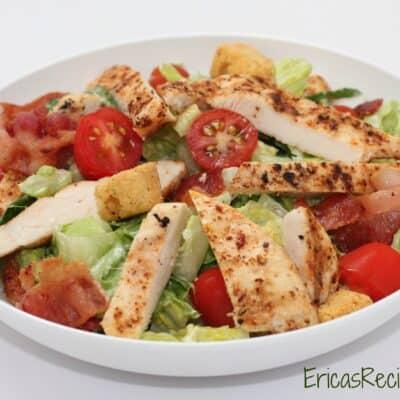 Chicken BLT Salad with Buttermilk Dressing